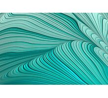 Folded Blue Green Abstract Photographic Print