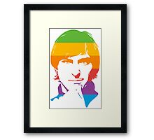 Steve Jobs - Apple Colors Framed Print