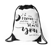 The Moon and the Stars Drawstring Bag