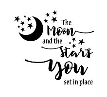 The Moon and the Stars Photographic Print