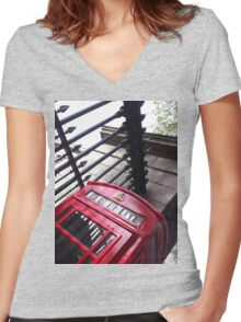London Telephone Women's Fitted V-Neck T-Shirt