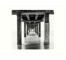 Under the Pier - B&W Art Print