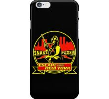 Snake Plissken (Escape from New York) Badge Colour iPhone Case/Skin