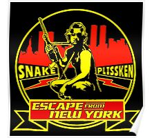 Snake Plissken (Escape from New York) Badge Colour Poster