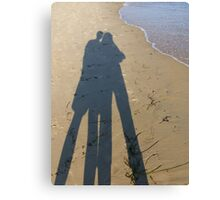 Lovers Shadow Canvas Print