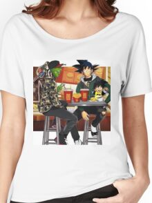 Goku, Piccolo and Gohan at McDonalds Women's Relaxed Fit T-Shirt