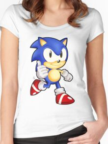 Classic Sonic the Hedgehog Women's Fitted Scoop T-Shirt