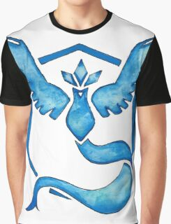 Watercolor Team Mystic Logo Graphic T-Shirt