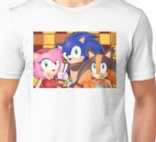Sonic Boom: Sonic, Amy Rose and Sticks Unisex T-Shirt