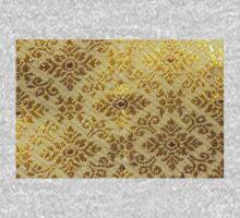 Gold,vintage,pattern Kids Tee