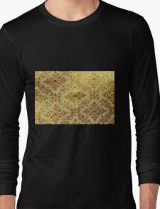 Gold,vintage,pattern Long Sleeve T-Shirt