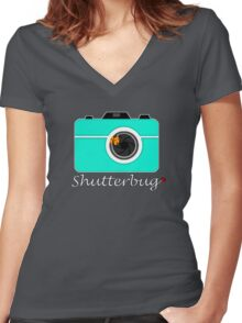 Shutterbug Women's Fitted V-Neck T-Shirt