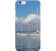Sailboats and Clouds in Watch Hill, RI iPhone Case/Skin