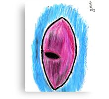 Oil Pastel Eye Drawing 2 Canvas Print