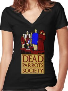 Dead Parrots Society Women's Fitted V-Neck T-Shirt
