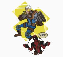 CABLE AND DEADPOOL One Piece - Short Sleeve