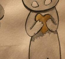 Golden hearts share Sticker