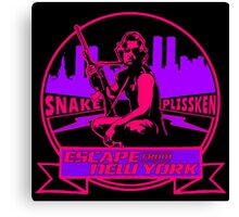 Snake Plissken (Escape from New York) Badge Colour 2 Canvas Print