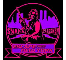 Snake Plissken (Escape from New York) Badge Colour 2 Photographic Print