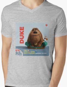 The Secret Life Of Pets Duke Mens V-Neck T-Shirt