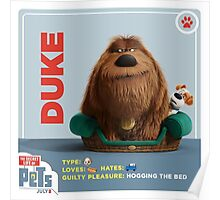 The Secret Life Of Pets Duke Poster