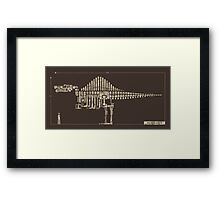 Spinosaurus Framed Print