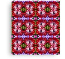 Red Anemone Pattern Canvas Print