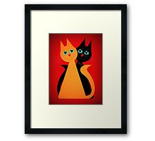 Feline Friends Framed Print