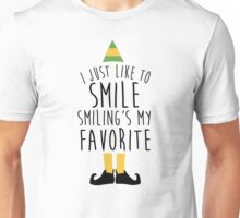Smiling's my Favorite - Elf Unisex T-Shirt