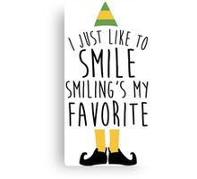 Smiling's my Favorite - Elf Canvas Print