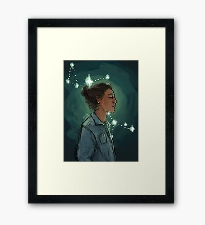 Sirius Black in the Constellation Canis Major Framed Print