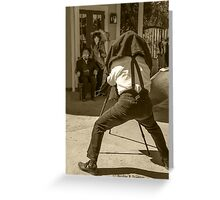 History Comes Alive...The Tintype Camera Greeting Card