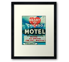 Heart Chicago Motel Framed Print