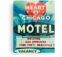 Heart Chicago Motel Metal Print