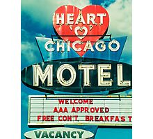 Heart Chicago Motel Photographic Print