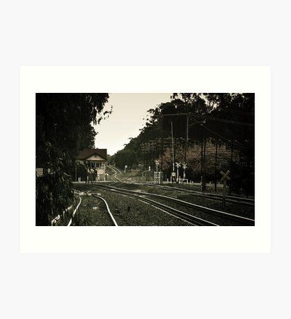 old town rail  Art Print