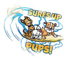 Surfing pups Photographic Print