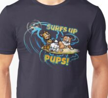 Surfing pups Unisex T-Shirt
