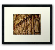 Choir Screen, York Minster Framed Print