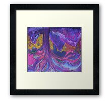 Violet Forest Framed Print