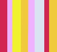 Striped Color RED YELLOW LAVENDER BLUE by EloiseArt