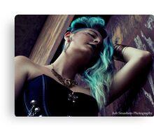 Courtney Glitch Steampunk Canvas Print
