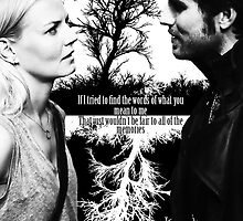 Captain Swan Black and White by colorfulmoniker