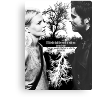 Captain Swan Black and White Metal Print