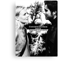 Captain Swan Black and White Canvas Print