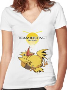Legenderpy Birb Instinct  Women's Fitted V-Neck T-Shirt