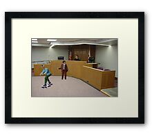 But Your Honor he's guilty as heck!  I can't believe you're just going to let him skate!! Framed Print