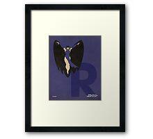 Raven - Superhero Minimalist Alphabet Print Art Framed Print