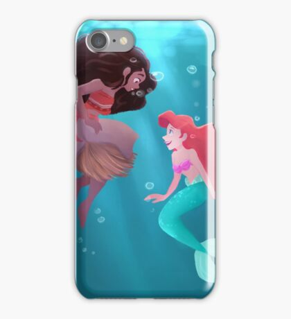 ariel and moana iPhone Case/Skin
