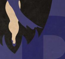 Raven - Superhero Minimalist Alphabet Print Art Sticker